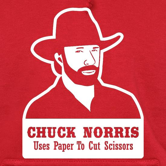 Chuck Norris Uses Paper To Cut Scissors Hoodies