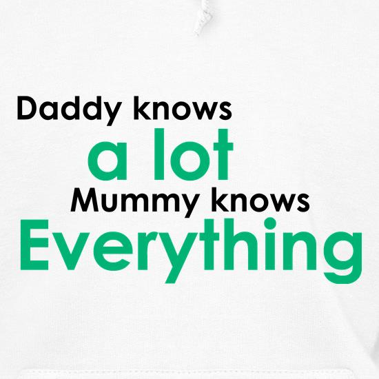 Daddy Knows A Lot But Mummy Knows Everything Hoodies