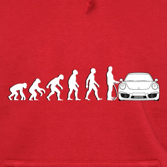 Evolution Of Man 911 Driver Hoodies
