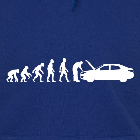 Evolution Of Man Car Mechanic Hoodies