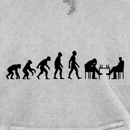 Evolution Of Man Chess Hoodies