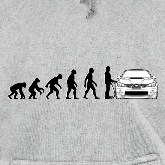 Evolution Of Man Subaru Impreza Hoodies