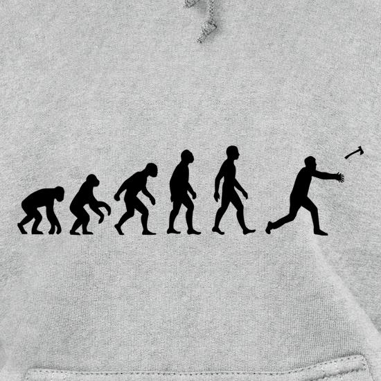 Evolution Of Man Throwing Axe Hoodies