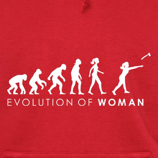 Evolution Of Woman Throwing Axe Hoodies