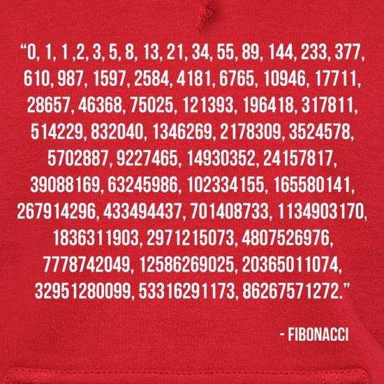 Fibonacci Quote Hoodies