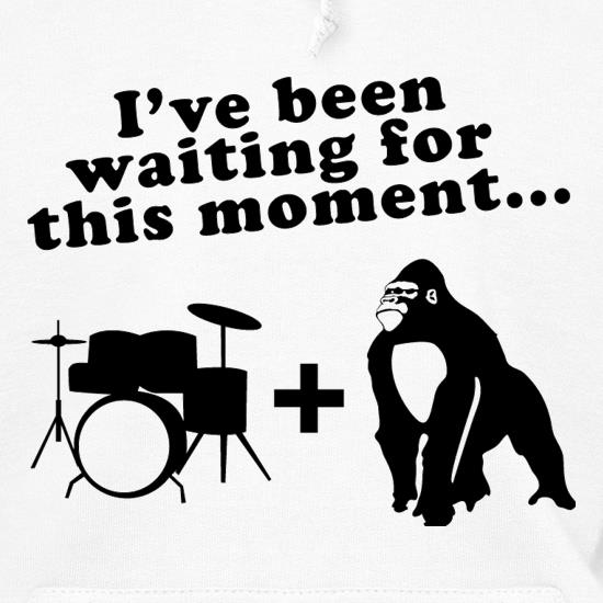 Gorilla + Drums Hoodies