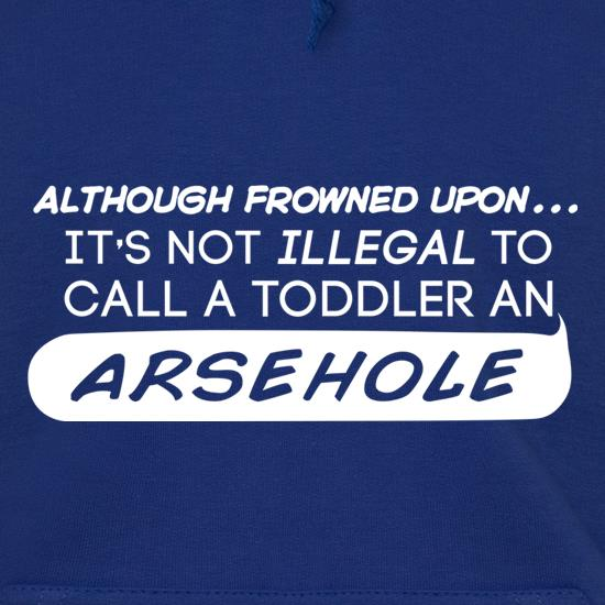 It's Not Illegal To Call A Toddler An Arsehole Hoodies
