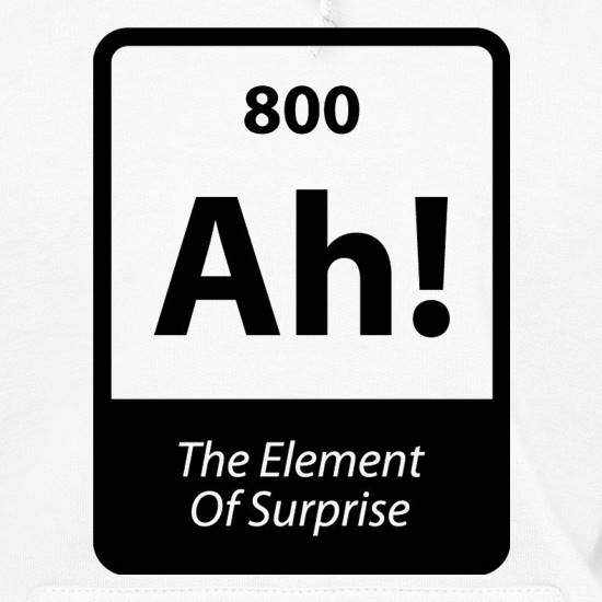 The Element Of Surprise Hoodies