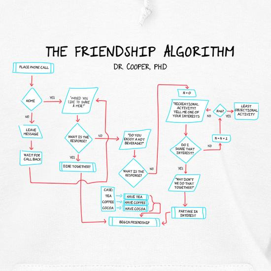 The Friendship Algorithm Hoodies