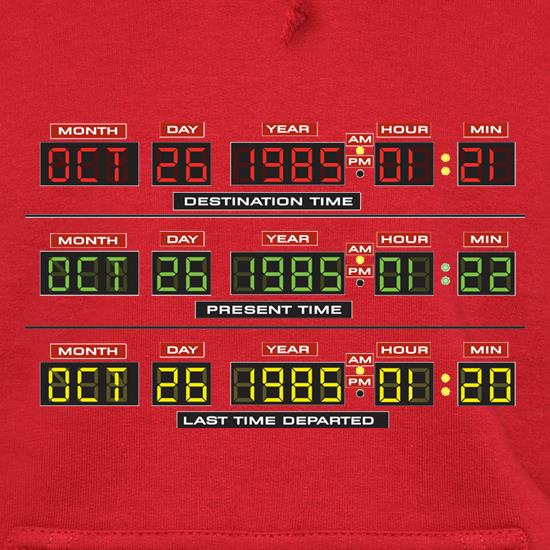 Time Machine Circuits Hoodies
