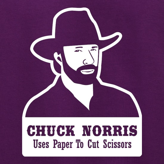 Chuck Norris Uses Paper To Cut Scissors Jumpers