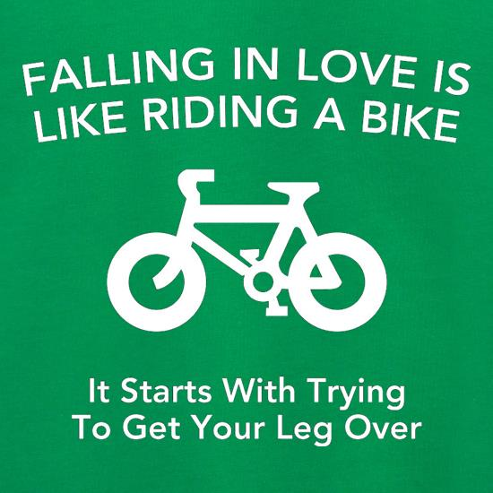 Falling In Love Is Like Riding A Bike It Starts With Trying To Get Your Leg Over Jumpers