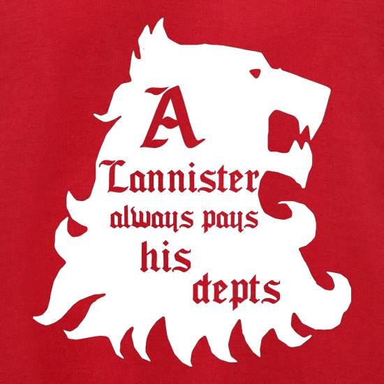 Game Of Thrones - A Lannister Always Pays His Depts Jumpers