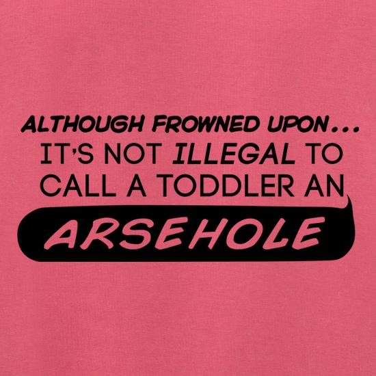 It's Not Illegal To Call A Toddler An Arsehole Jumpers
