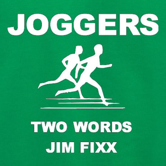 Joggers Two Words Jim Fixx Jumpers