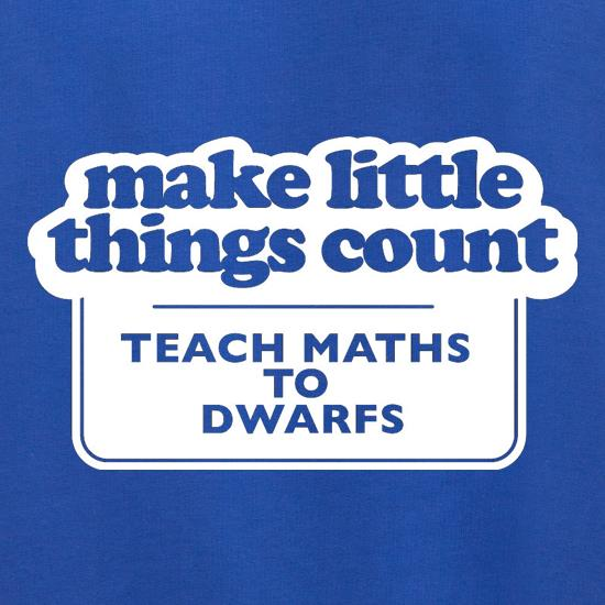 Make Little Things Count Teach Maths To Dwarfs Jumpers