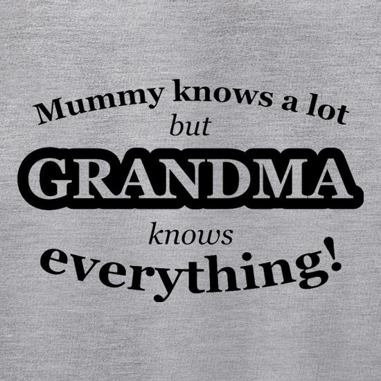 Mummy Knows A Lot, But Grandma Knows Everything Jumpers