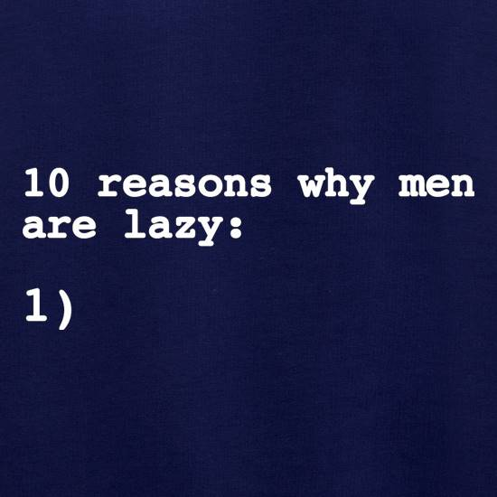 10 Reasons Why Men Are Lazy Jumpers