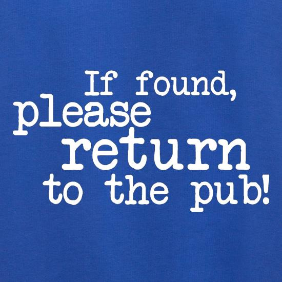 If Found, Please Return To The Pub! Jumpers