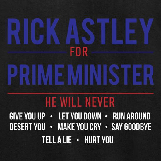 Rick Astley For Prime Minister Jumpers