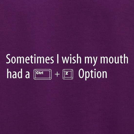 Sometimes I Wish My Mouth Had A Ctrl Z Option Jumpers