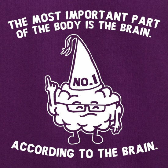 The Most Important Part Of The Body Is The Brain. According To The Brain. Jumpers