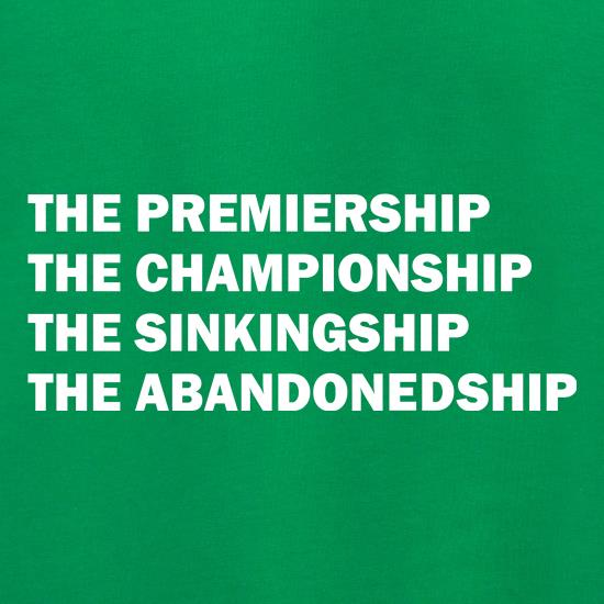 The premiership, the championship, the sinkingship, the abandonship Jumpers