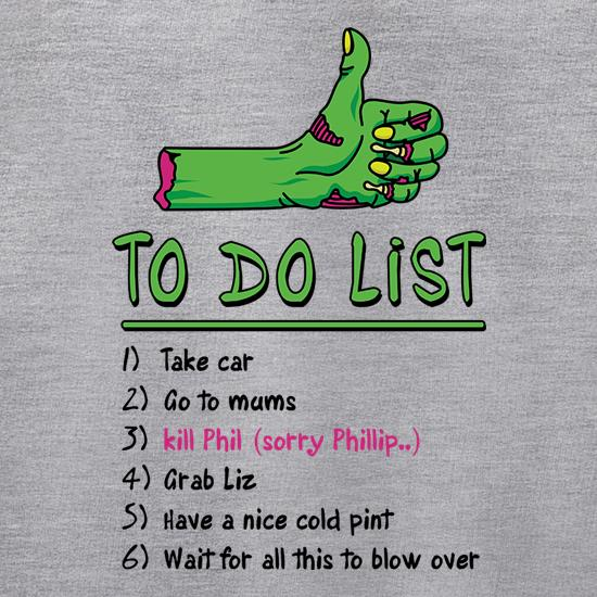 Zombie Apocalypse To Do List Jumpers