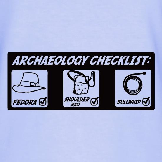 Archeology Checklist T-Shirts for Kids