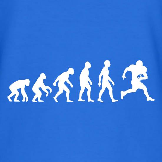 Evolution Of Man American Football T-Shirts for Kids