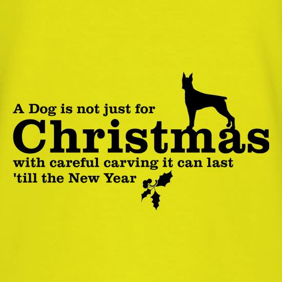 A dog is not just for christmas, with careful carving it can last 'till the new year T-Shirts for Kids