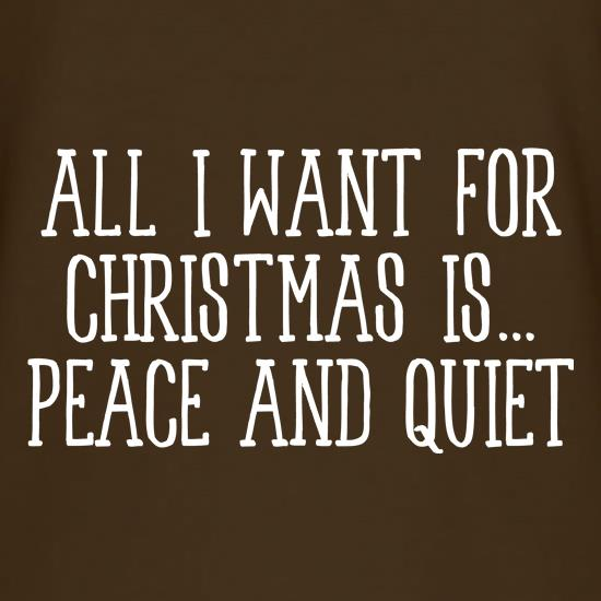 All I Want For Christmas Is Peace & Quiet T-Shirts for Kids