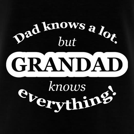 Dad Knows A Lot But Grandad Knows Everything T-Shirts for Kids