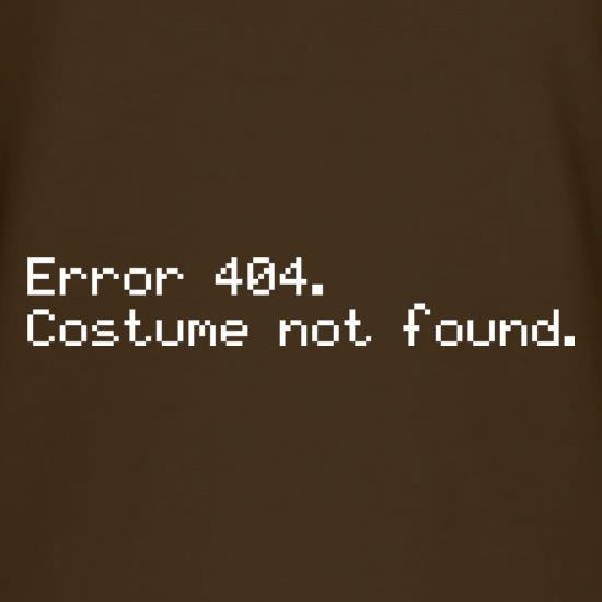 Error 404 Costume Not Found T-Shirts for Kids