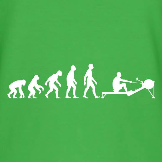 Evolution of Man Rowing Machine T-Shirts for Kids