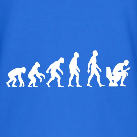 Evolution of Man Toilet Phone T-Shirts for Kids