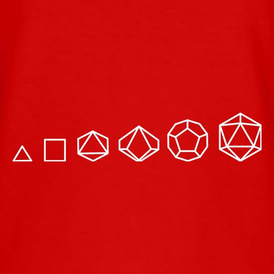 Evolution of Role Playing Dice T-Shirts for Kids