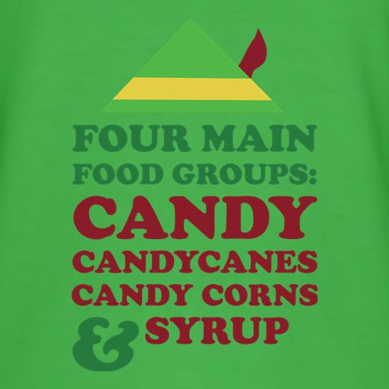 Four Main Christmas Food Groups T-Shirts for Kids
