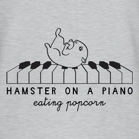 Hamster On A Piano Eating Popcorn T-Shirts for Kids