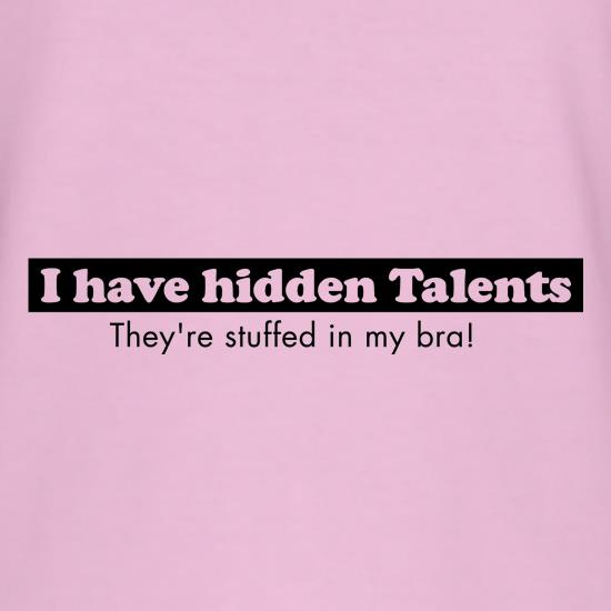 i have hidden talents - stuffed in my bra! T-Shirts for Kids