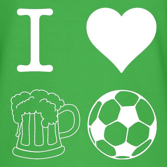 I Heart Beer and Football T-Shirts for Kids