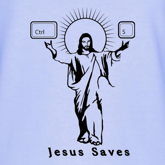 Jesus Saves (Ctrl+S) T-Shirts for Kids