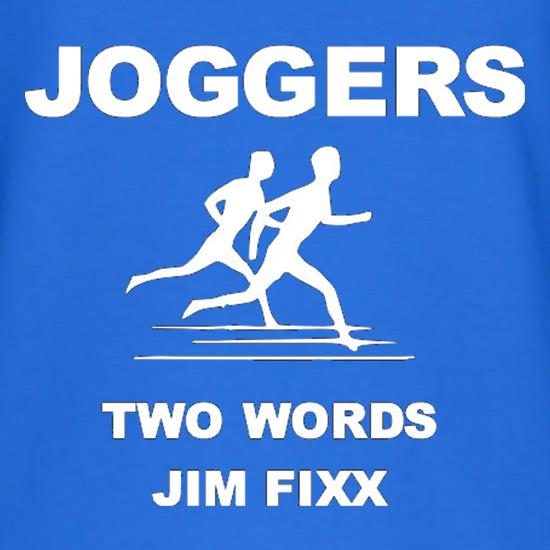 Joggers Two Words Jim Fixx T-Shirts for Kids