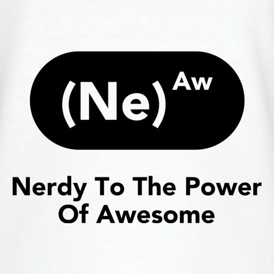 Nerdy To The Power Of Awesome T-Shirts for Kids