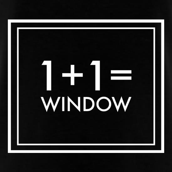 One Plus One Equals Window T-Shirts for Kids
