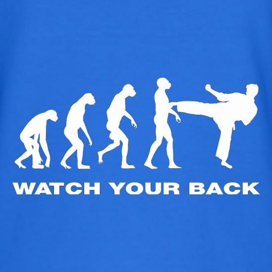 Watch Your Back Evolution T-Shirts for Kids