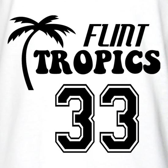 Flint Tropics Long Sleeve T Shirt By CharGrilled