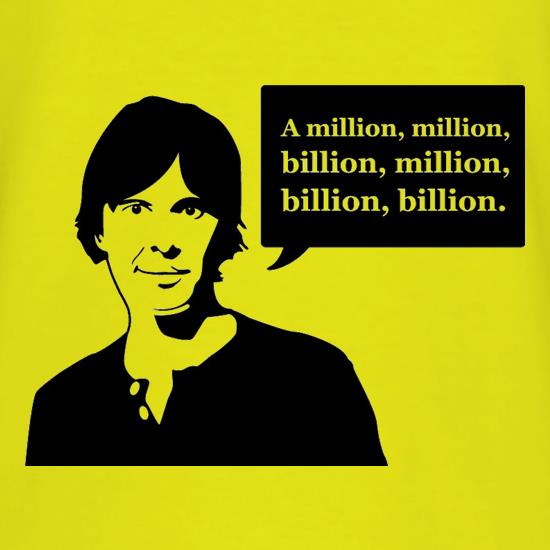 Brian Cox Million Billion t-shirts