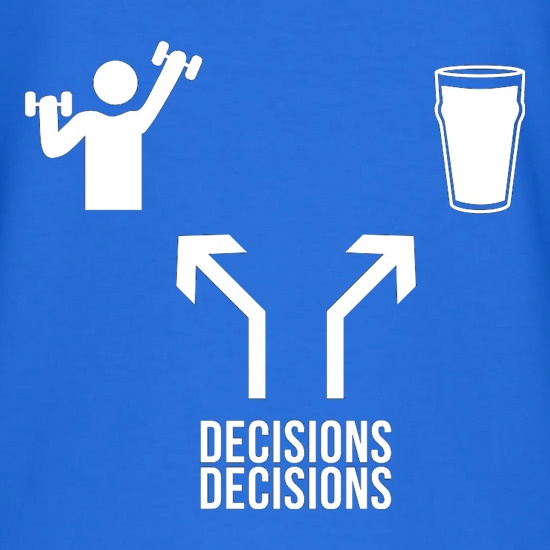 Decisions Decisions t-shirts