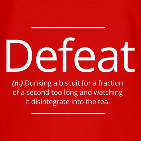 Defeat t-shirts